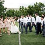 Celebrar una boda en un campo de fútbol