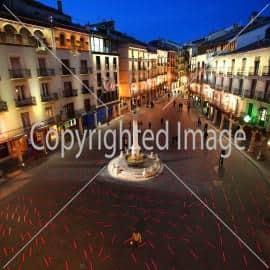 luces en la plaza del Torico. Foto Antonio Garcia. 25-11-10