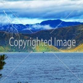 Sea and mountains - near Wellington, NZ