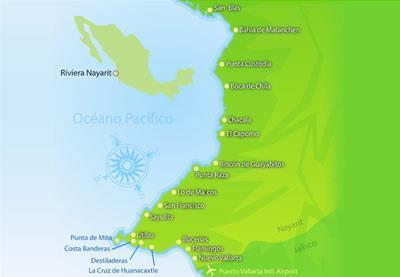 mapa riviera nayarit