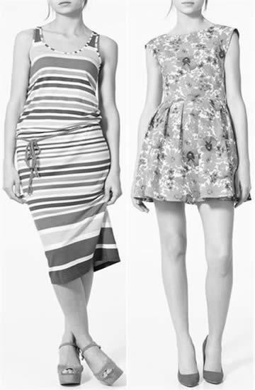 Zara nos trae los vestidos con flores y rayasç