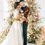 Otoño Floral Arch Goals With 3 Romantic Bridal Gowns ⋆ Ruffled[
