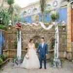 Boda en el Palacio Mágico con Azulejos Azules en Portugal