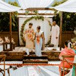 Matrimonio Íntimo Indio en el Patio