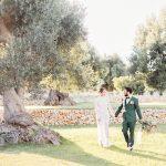 Inspiración de boda italiana en lujoso verde oliva