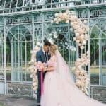 Este vestido rosa de Monique Lhuillier es el colorido vestido de novia para marcar ahora